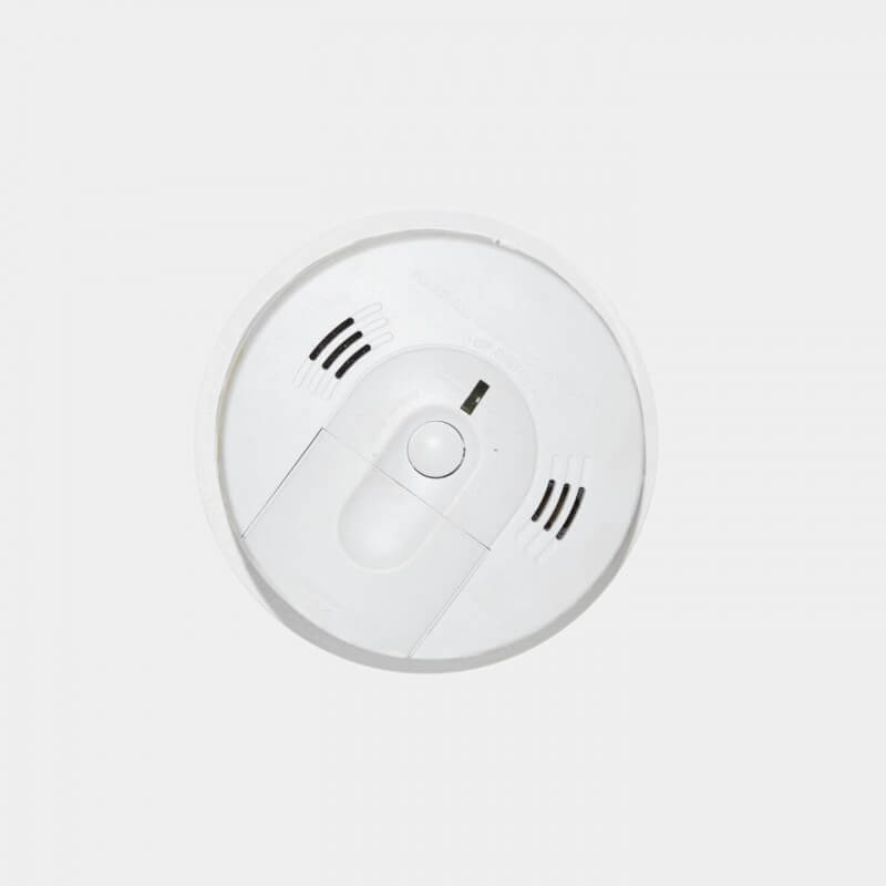 smoke carbon monoxide alarm isolated white background